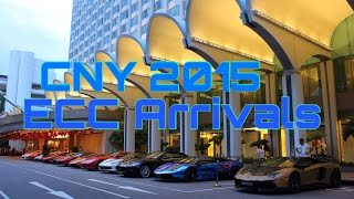 Exotics Car Club Singapore arrivals at Shangri-la hotel ~ CNY Dinner 2015