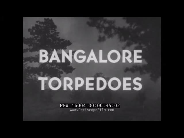 U.S. ARMY WWII  EXPLOSIVES AND DEMOLITION TRAINING FILM   BANGALORE TORPEDO  FILM    16004