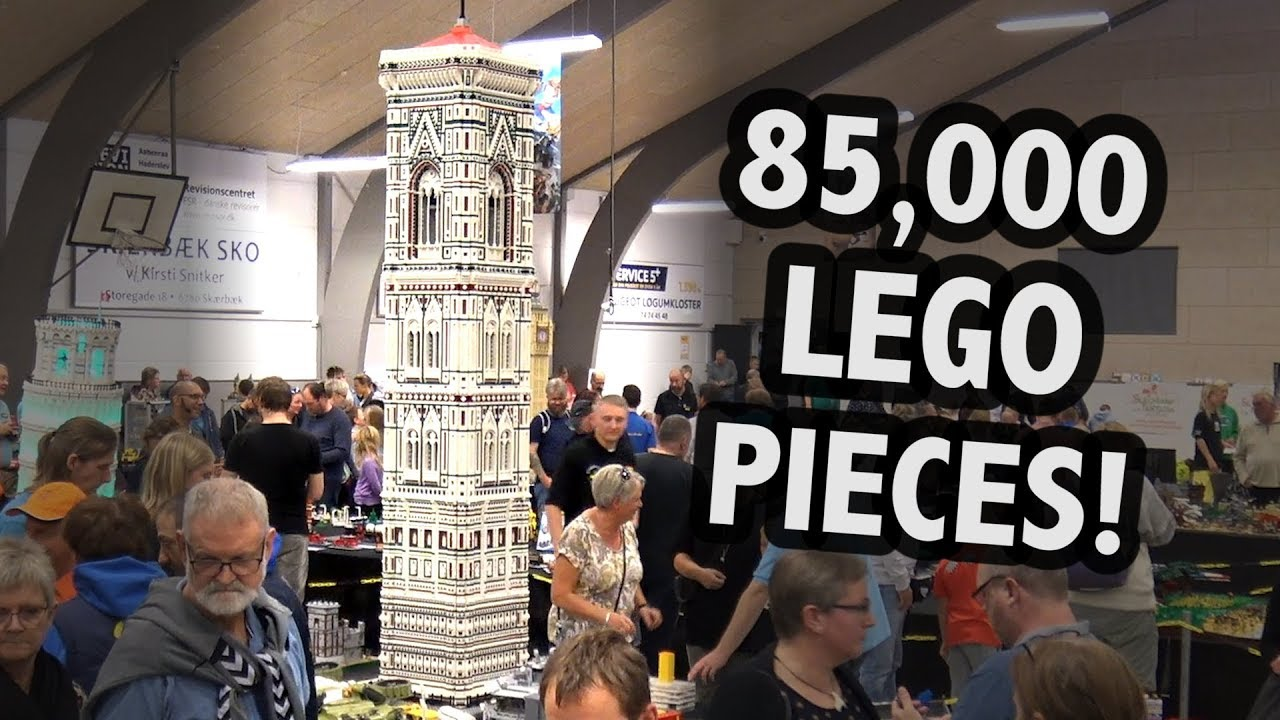 Huge Lego Florence Italy Bell Tower Skærbæk Fan Weekend 2018