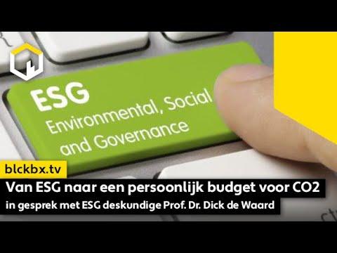 Van ESG naar een persoonlijk budget voor CO2. In gesprek met ESG deskundige Prof. Dr. Dick de Waard
