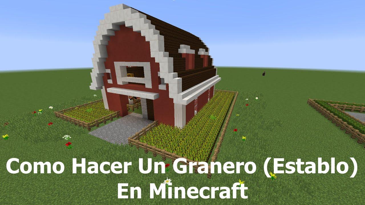 Como hacer un granero establo en minecraft youtube - Como construir un tejado ...