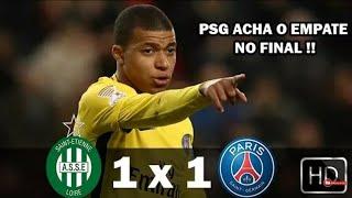 Saint Etienne 1 x 1 PSG - Gols & Melhores Momentos  - Campeonato Francês 2018