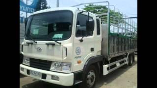 Xe tải HD210 thùng mui bạt, xe tải Hyundai 3 chân nhập khẩu nguyên chiếc, tải trọng lên tới 15 tấn!