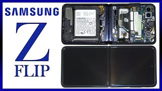 Samsung Galaxy Z Flip Disassembly Teardown Repair Video Review 2020