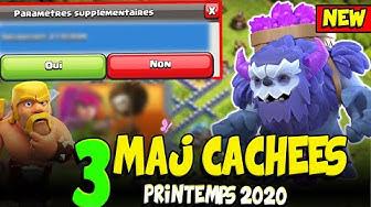 Les 3 MAJ Cachées non Révélées de Clash of Clans - Printemps 2020