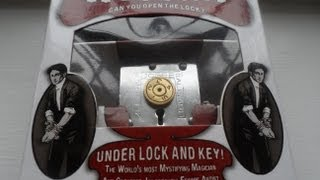 The Amazing Magic Professor Puzzle Houdini Puzzle Locks Under Lock And Key