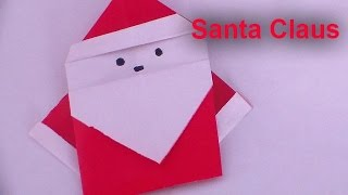 How to Make a Santa Claus Origami Christmas