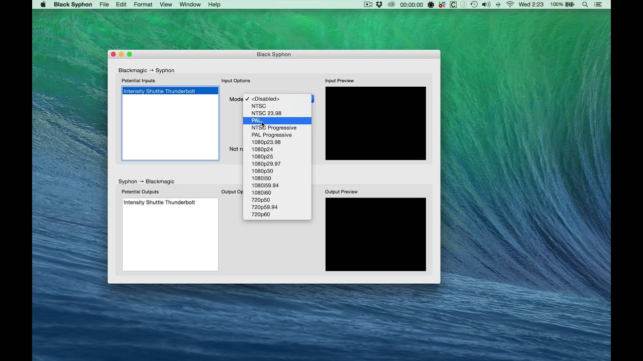 How To Use A Black Magic Design Intensity Shuttle Thunderbolt With Obs And Syphon For Os X Youtube