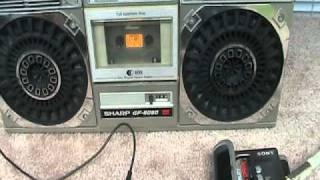 Sharp GF-6060 how to play your MP3 music through a 6060 boombox