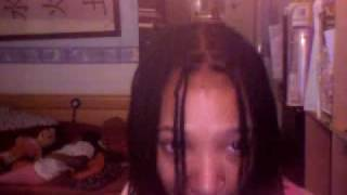 just done dye black & deep steam locks re-twist my self