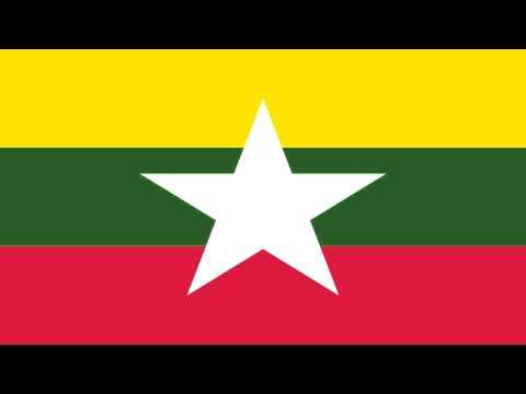 Bandera e Himno Nacional de Birmania - Flag and National Anthem of Myanmar