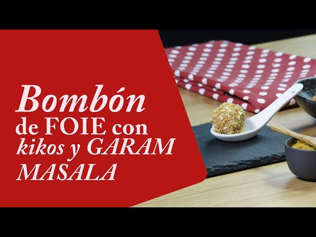 Bombón de foie o Bolas de Foie con kikos y garam masala 😍🍚