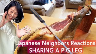 I Shared a Whole Pig Leg with my Japanese Neighbors | Their Reactions are Priceless