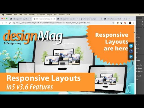 Responsive Layouts - in5 v3.6 Features