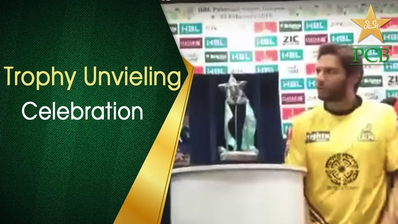 Trophy Unveiling For The Shooting Star of HBL PSL   PCB