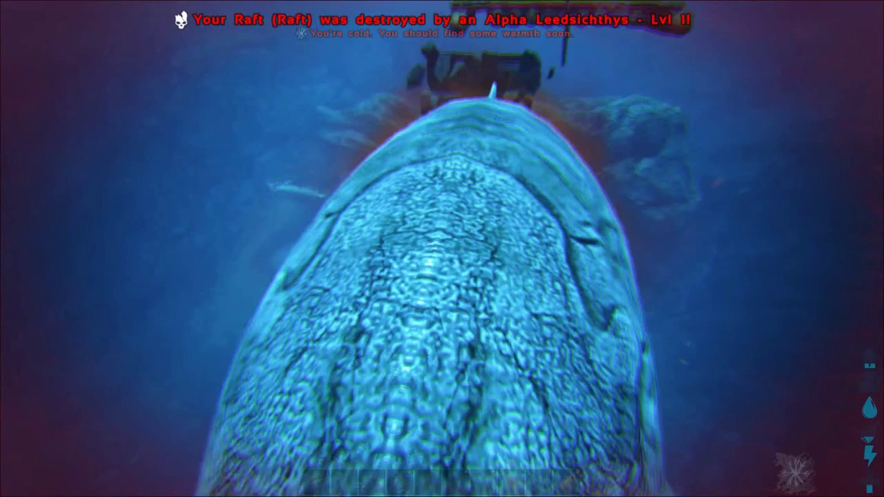 ARK // How to Avoid Leedsichthys Destroying Raft // Third-Person Mode  Cinematic View