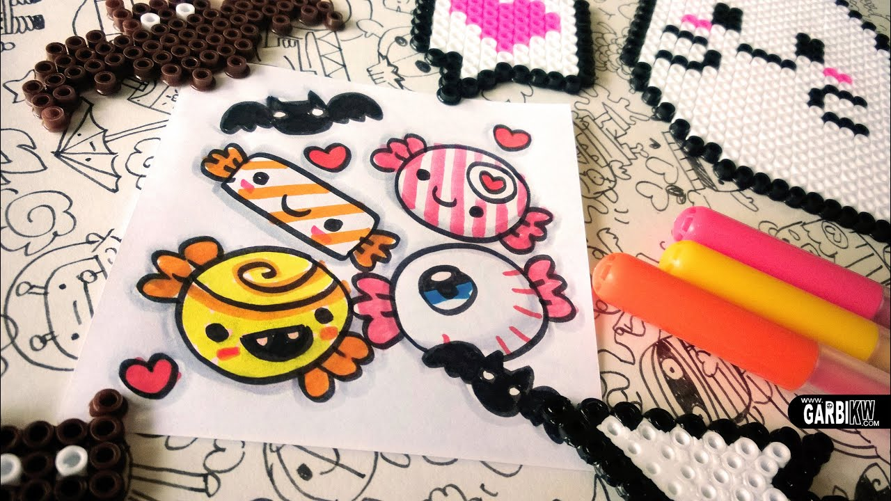 Halloween Drawings - How To Draw Cute Candies by Garbi KW ...