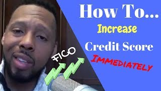 how to increase your credit score immediately 2019 | Increase your credit score in 30 days