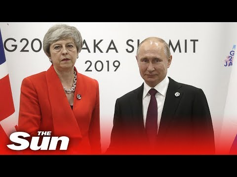 Theresa May exchanges cold handshake with Vladimir Putin at G20 summit