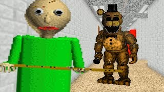ANIMATRONICS FOUND IN BALDIS! | Baldi's Basics in Education and Learning (FNAF MOD)