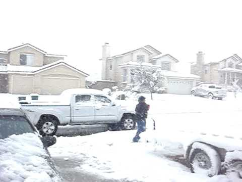 Snow in Palmdale ,CA