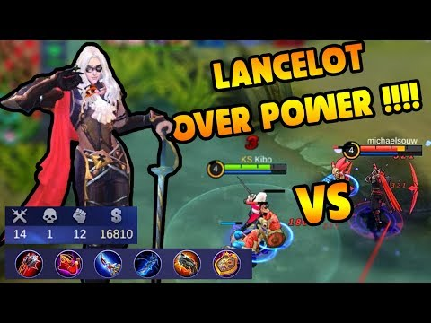 NEW HERO LANCELOT OVER POWER !! KIBO VS MICHAELSOUW in RANKED MATCH !!! - MLBB INDONESIA !!