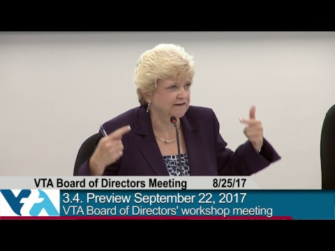 August 25, 2017, VTA Board of Directors Workshop Meeting