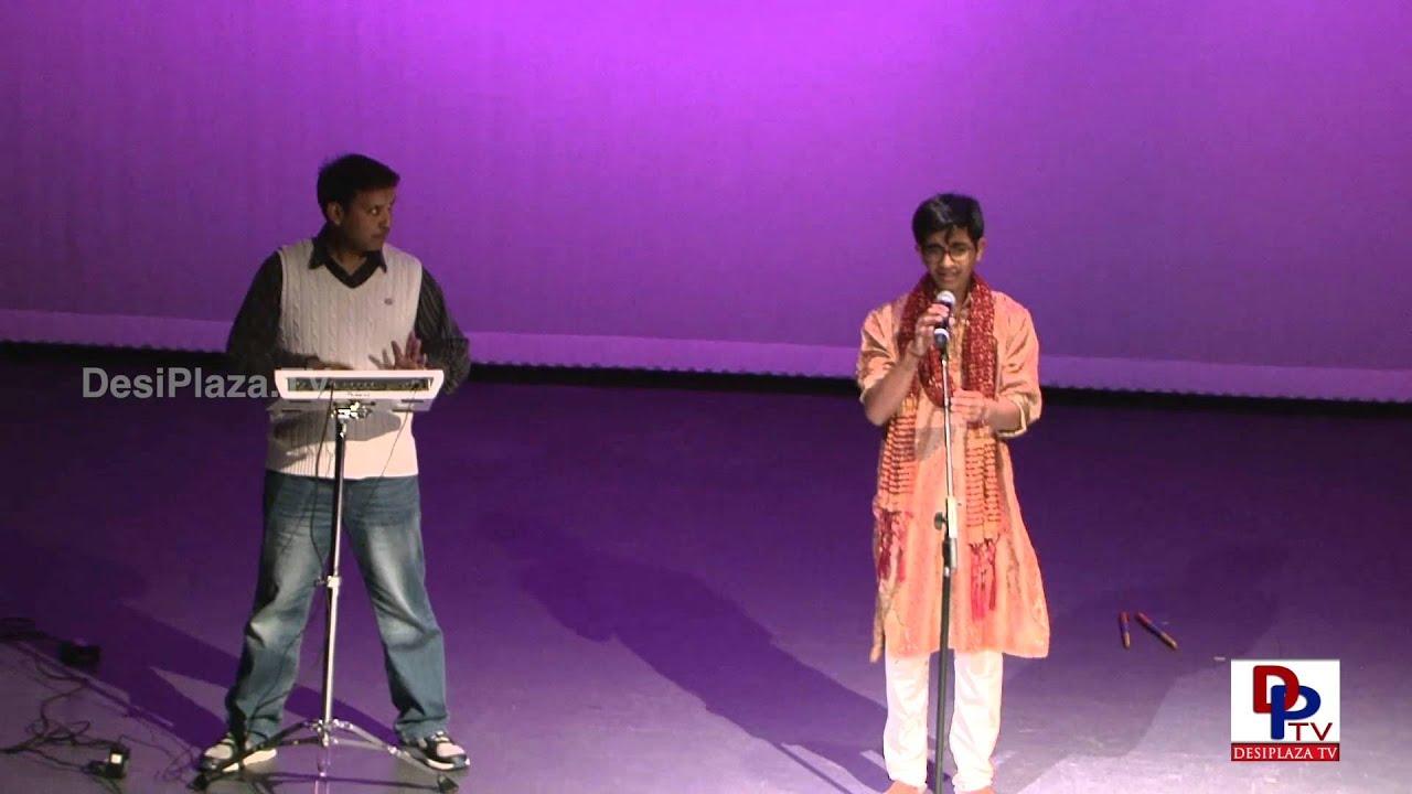 Akhil Mulukutla singing  Bhasma vibhushita invocational song at Dance for Cure Event.