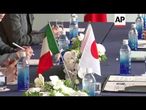 Japanese, Italian FMs meet at G7 meeting
