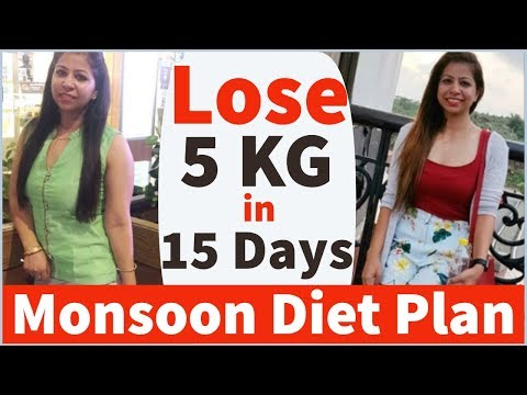 How To Lose Weight Fast 5 KG in 15 Days | Monsoon Diet Plan for Weight Loss | Fat to Fab Suman Diet