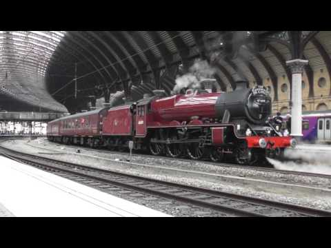 LMS Jubilee No. 45699 'Galatea' at York - The Scarborough Spa Express - 8th June 2017