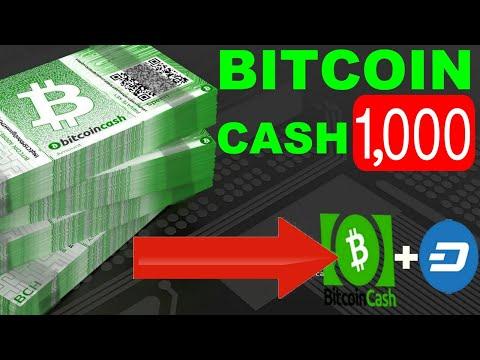 Bitcoin Cash (BCH) Hitting $1,000 | Bitcoin Cash + Dash