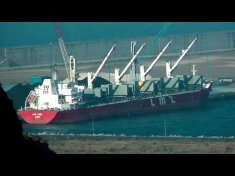 TIMELAPSE VIDEO SHIP LMZ ARIEL IMO 9632818 V7XR4 MARSHALL ISLANDS GIJON HD