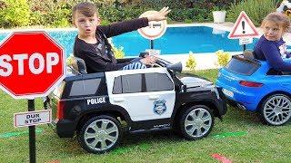 ALİ TRAFİKTE ADRİANA'YI YAKALADI Kids Ride on Power wheels Toy Cars