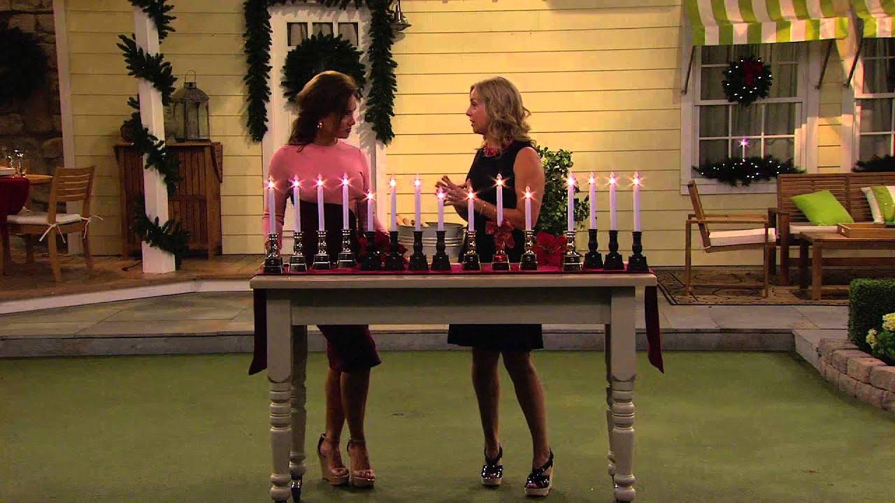 Bethlehem lights window candles with timer - Bethlehem Lights Set Of 4 Battery Op Window Candles With Lisa Robertson
