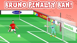 LEAKED FOOTAGE of new Bruno Fernandes penalty techniques! ► 442oons
