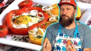 ЯИЧНИЦА В ПЕРЦЕ. Небанальное блюдо из яиц на завтрак | Видео рецепт