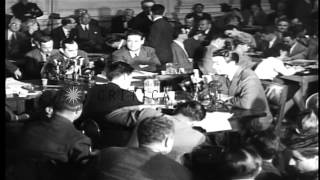 Actor Robert Taylor arrives and testifies before House Committee on Un-American A...HD Stock Footage