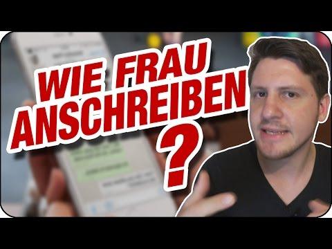 WIE FREMDE FRAU / FREMDES MÄDCHEN ANSCHREIBEN? (bei Whatsapp/facebook/SMS) | Zuschauerfrage