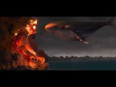 Moana - Maui Turining into Whale