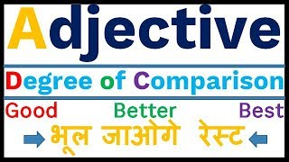 Adjective: degree of comparison in hindi(Positive,Comparative,Superlative degree)by SANJEEV SIR