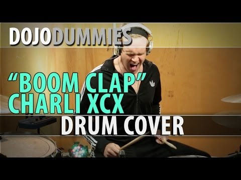 Charli XCX - Boom Clap (DRUM COVER) in a tracksuit.