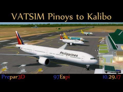 P3D Group Flight + ATC Manila to Kalibo 10.27.17