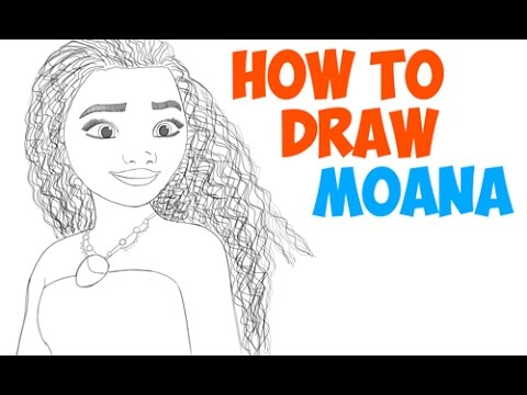 How to Draw Moana Step by Step Easy Drawing Tutorial for Kids ...