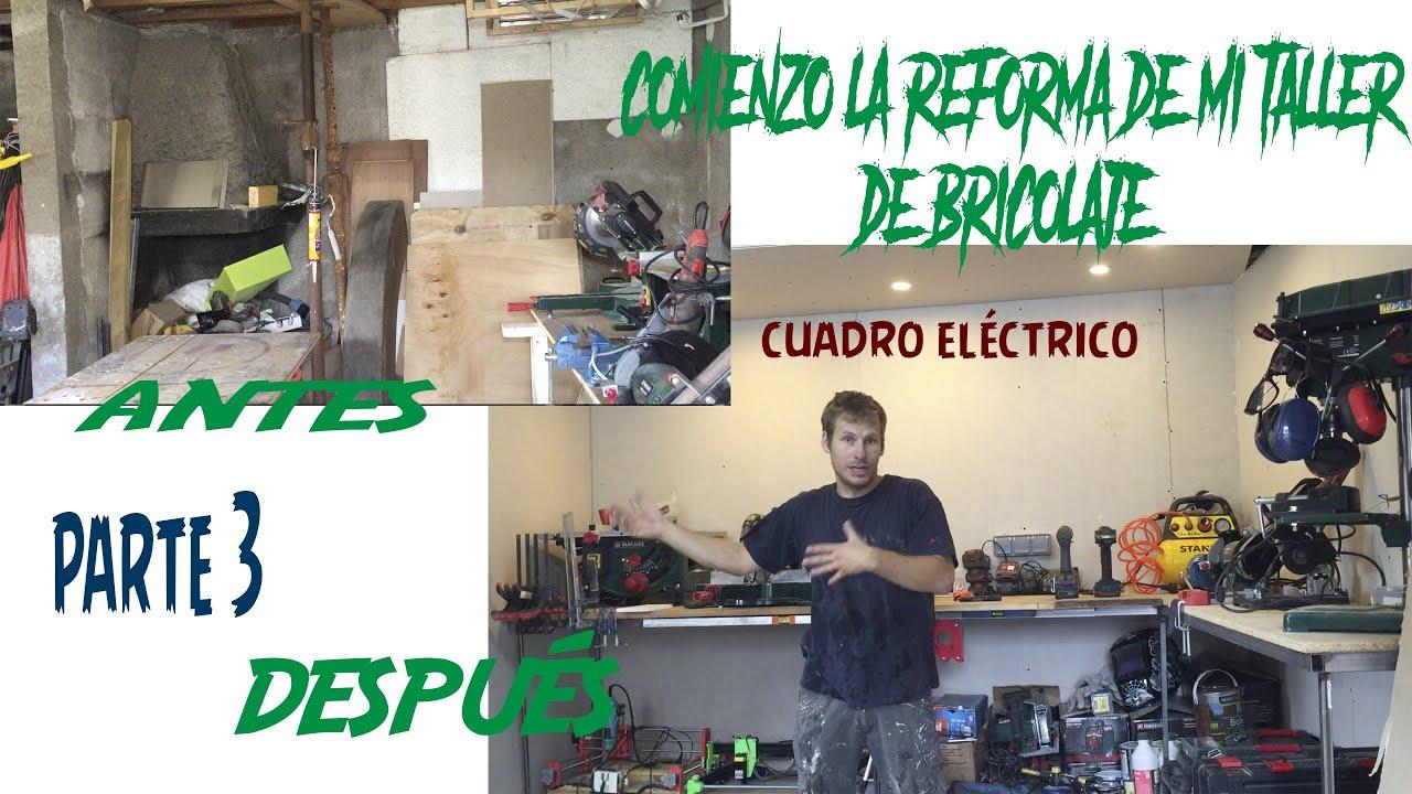 Reformando mi taller de bricolaje: Aislamiento, Pladur, Electricidad, banco de trabajo... 3º parte.