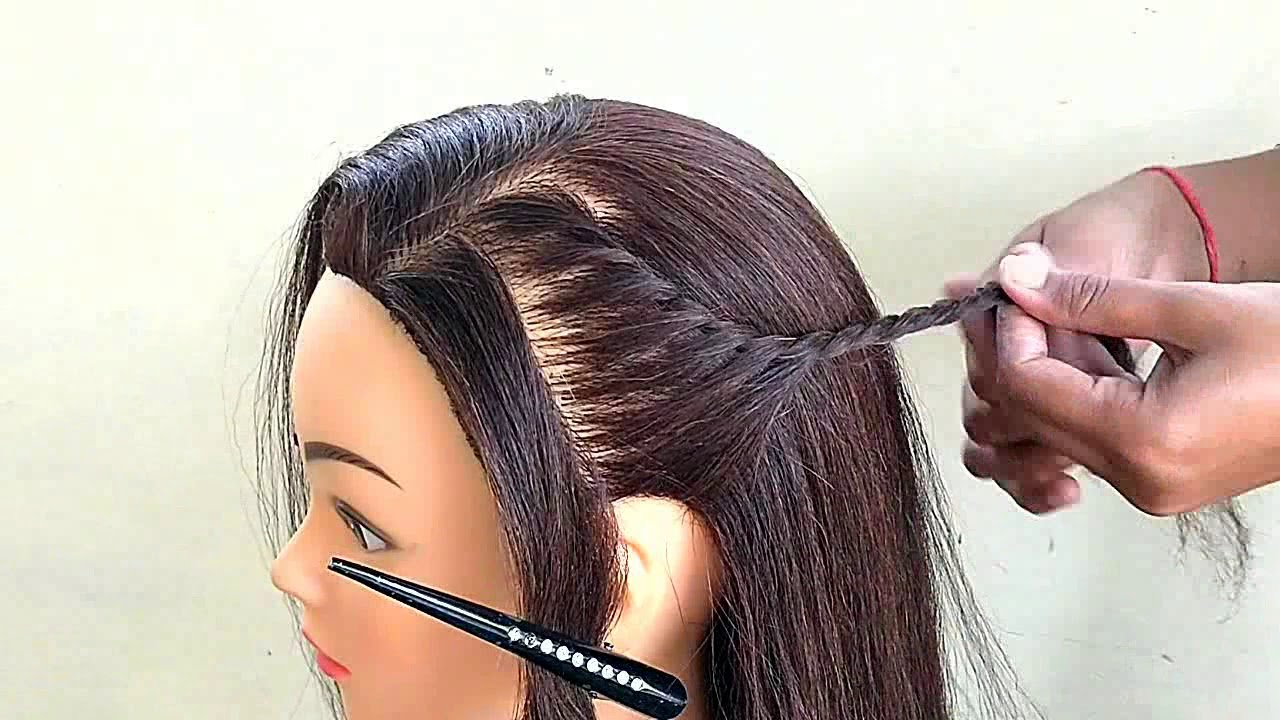 Beautiful One Side Hairstyle For Party Open Hair Hairstyle For Girls Youtube