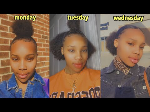 I WORE DIFFERENT NATURAL HAIRSTYLES TO SCHOOL FOR A WEEK!