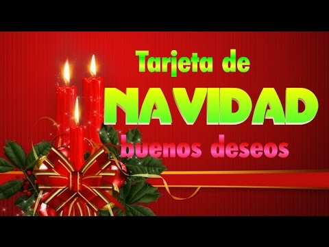 Tarjeta de navidad buenos deseos youtube - Buenos regalos para navidad ...
