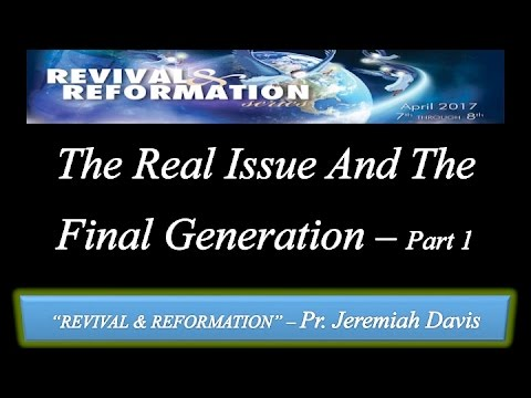 "Vespers: ""The Real Issue And The Final Generation Part 1"""