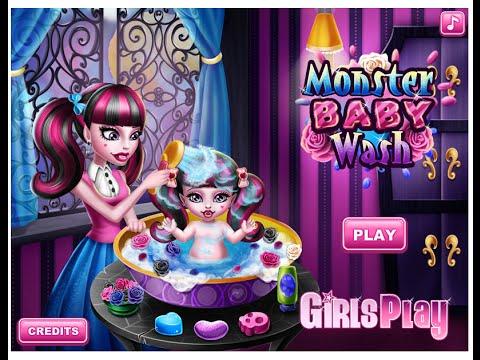 monster high online games monster high baby bath game youtube. Black Bedroom Furniture Sets. Home Design Ideas